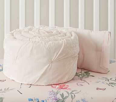 Monique Lhuillier Velvet Bumper, Bumper, Blush - Pottery Barn Kids