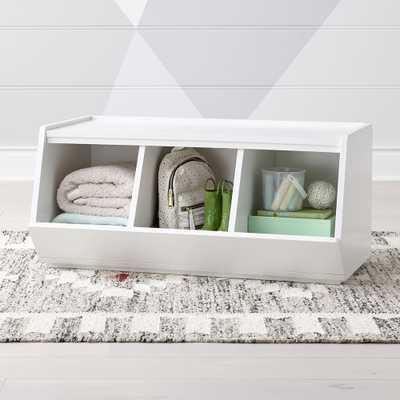 Storagepalooza II Wide White Toy Bin - Crate and Barrel