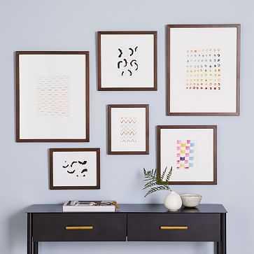 Gallery Frames, Walnut Wood, Set of 6 - West Elm