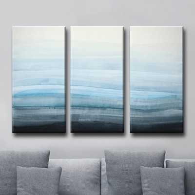 Coastal Mist - 3 Piece Wrapped Canvas Painting Print Set - AllModern