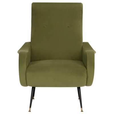 Safavieh Elicia Hunter Green Accent Chair - Home Depot
