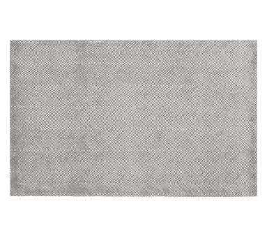 Herringbone Rug, 8x10', Charcoal Gray - Pottery Barn Kids
