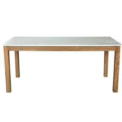 Eastridge Teak/Marble Dining Table - Wayfair
