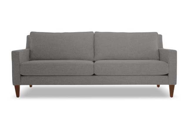 Gray Levi Mid Century Modern Sofa - Mixology Granite - Mocha - Joybird