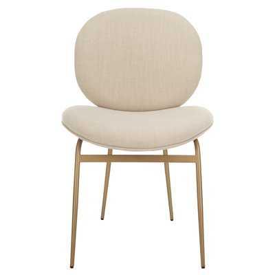Vilonia Upholstered Dining Chair- Beige- Set of 2 - Wayfair