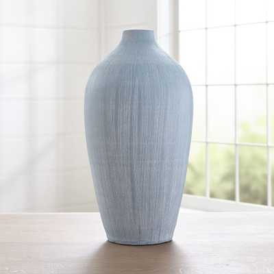 Annisa Light Blue Tall Vase - Crate and Barrel