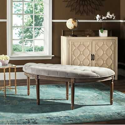 Javed Semi-Circle Upholstered Bench - Wayfair