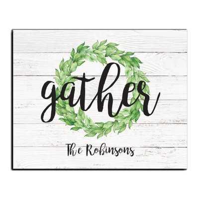 'Gather' Textual Art on Wood - Wayfair