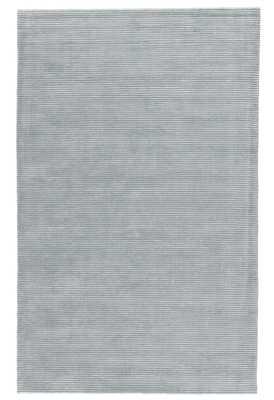 Basis Handmade Solid Light Teal Area Rug (8' X 10') - Collective Weavers