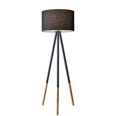 Adesso Louise 60 in. Black Tripod Floor Lamp - Home Depot