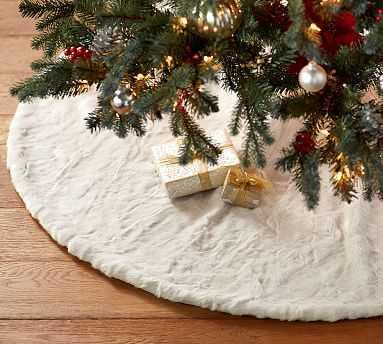 Faux Fur Tree Skirts, Ivory Alpaca - Pottery Barn