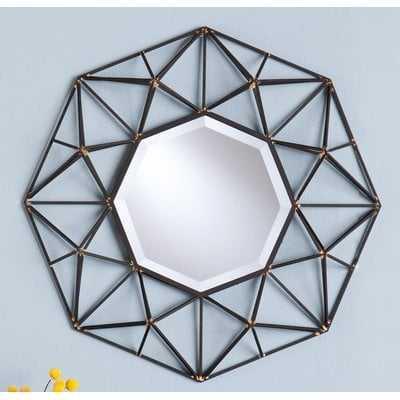 Waldron Round Metal Wall Mirror - Wayfair