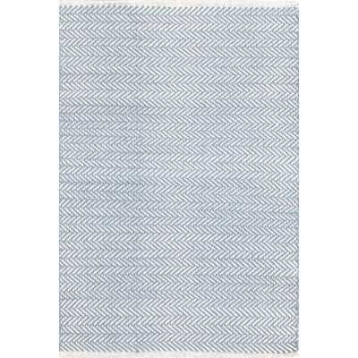 Herringbone H Woven Swedish Blue Area Rug - Wayfair