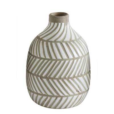 8-1/4 in. H Terracotta Vase, Grays - Home Depot