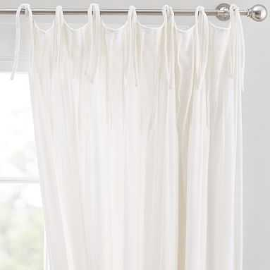 "Shimmer Velvet Blackout Curtain, 108"", Ivory - Pottery Barn Teen"