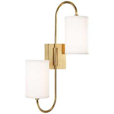 "Hudson Valley Junius 22""H 2-Light Aged Brass Sconce - Style # 9M072 - Lamps Plus"