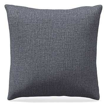 "24""x 24"" Pillow, Performance Yarn Dyed Linen Weave, Shelter Blue - West Elm"