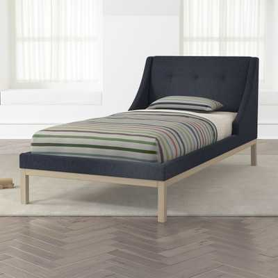 Gallery Navy Twin Wing Bed - Crate and Barrel