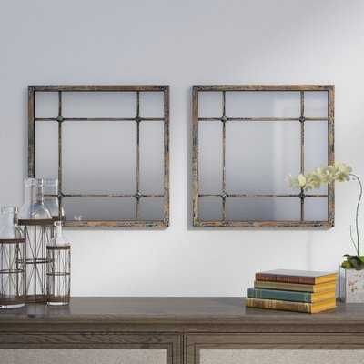 Priscilla Square Accent Mirror Set - Wayfair