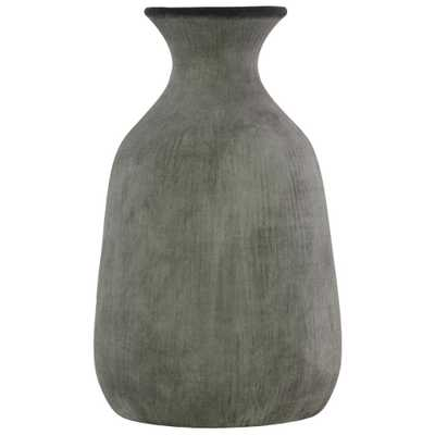 Gray Washed Washed Concrete Terracotta Decorative Vase - Home Depot