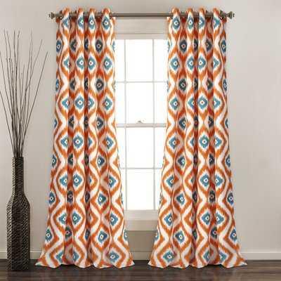 Castleton Ikat Room Darkening Thermal Grommet Curtain Panels - AllModern