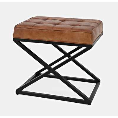 Lorilee Leather Tufted Ottoman - Wayfair