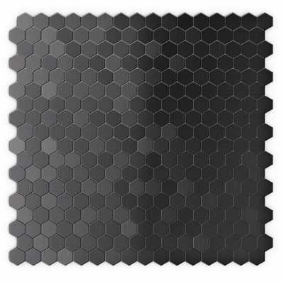 Inoxia SpeedTiles Hexagonia SB 11.46 in. x 11.89 in. x 5 mm Self Adhesive Wall Tile Mosaic in Black Stainless (11.4 sq. ft. / case), Black Stainless Steel - Home Depot