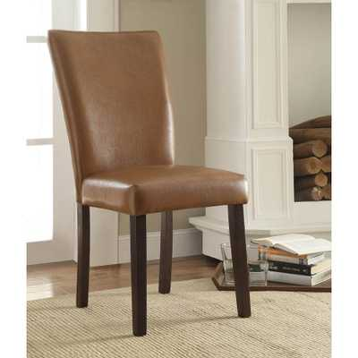 Stabilyne Havana Brown Polyurethane Parsons Side Chair (Set of 2) - Home Depot