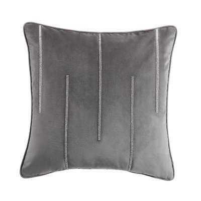 Jaxen Double Diamond Striped Velvet Throw Pillow - Wayfair