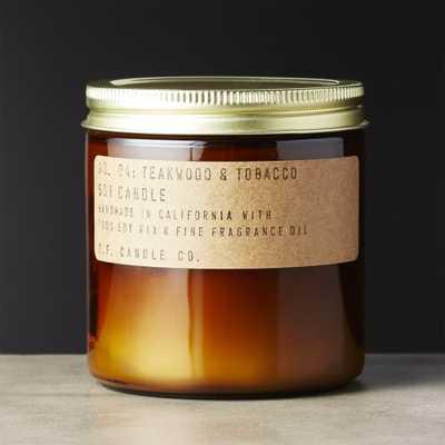 Teakwood and Tobacco Soy Candle 12.5 oz - CB2
