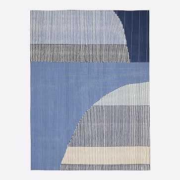 Pamela Wiley Arches Rug , Denim, 8'x10' - West Elm