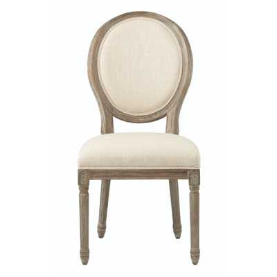 Jacques Antique Brown Natural Linen Dining Chair (Set of 2) - Home Depot
