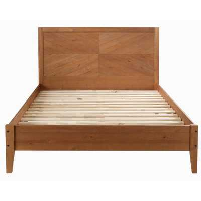 Caramel Queen Solid Wood Bed - Home Depot