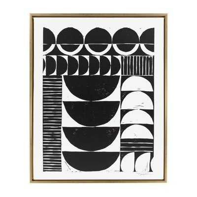 Sylvie Modern Circular Block by Statement Goods - Floater Frame Graphic Art Print on Canvas - AllModern