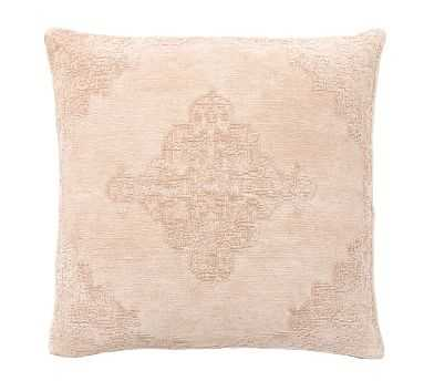"""Maddie Textured Pillow Cover, 22"""", Flax - Pottery Barn"""