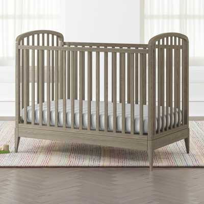 Archway Grey Stain Crib - Crate and Barrel