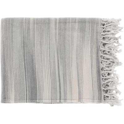 Simonov Charcoal (Grey) Cotton Throw - Home Depot