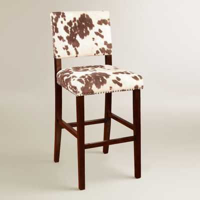 Brown Cow-Print Addison Bar Stool by World Market - World Market/Cost Plus