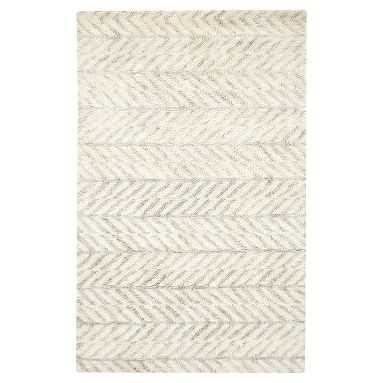 Dash Tufted Wool Rug, 8'x10', Ivory/Gray - Pottery Barn Teen