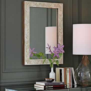 Parsons Wall Mirror, Bone Inlay - West Elm