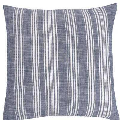 Herringbone Blue Stripe Throw Pillow, 20X20 Inches - Wayfair