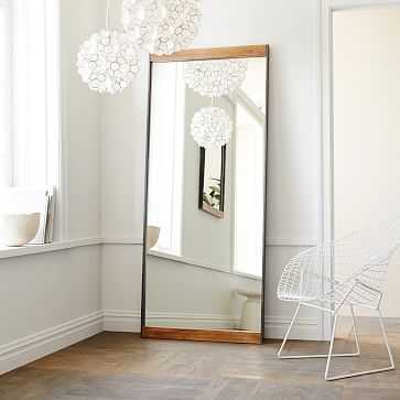 Industrial Floor Mirror, Mango Wood - West Elm