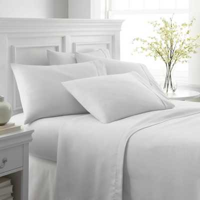 Performance White King 6-Piece Bed Sheet Set - Home Depot