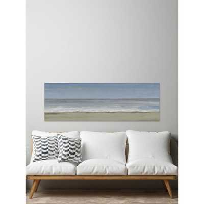 """20 in. H x 60 in. W """"Beach Walking Day Iii"""" by Marmont Hill Canvas Wall Art, Multi-Colored - Home Depot"""