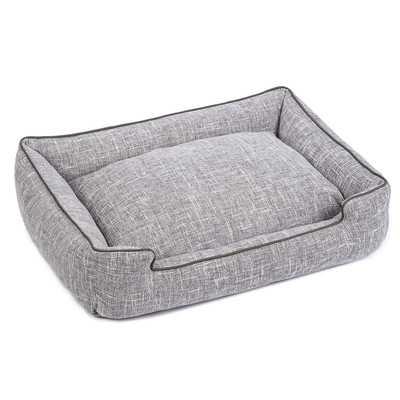 Harper Textured Woven Lounge Dog Bed - Wayfair