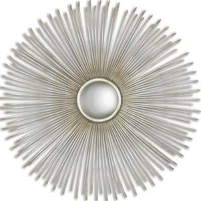 Round Silver Mirror - Wayfair