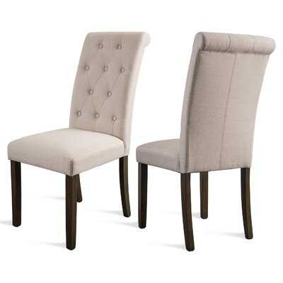 Munguia Aristocratic Style Dining Chair Noble And Elegant Solid Wood Tufted Dining Chair Dining Room Set (set Of 2) - Wayfair