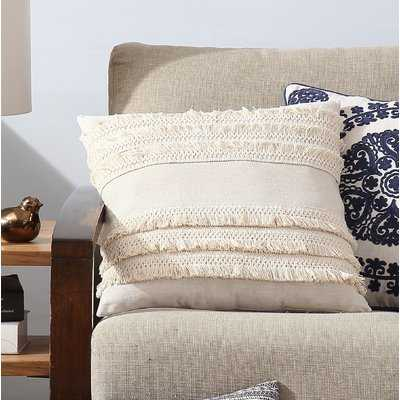 Cabool Fringed Throw Pillow Cover - Wayfair