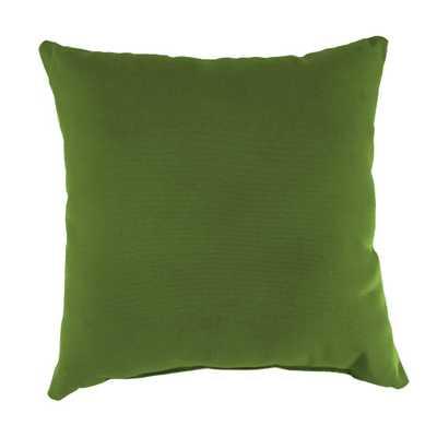 Jordan Manufacturing Sunbrella Spectrum Cilantro Square Outdoor Throw Pillow - Home Depot