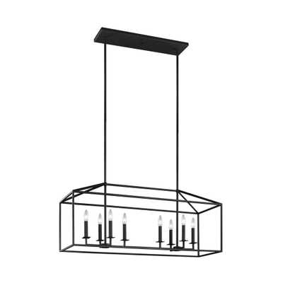 Sea Gull Lighting Perryton 40 in. W. 8-Light Blacksmith Island Chandelier - Home Depot
